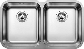 Кухонная мойка BLANCO SUPRA 340/340-U нерж. сталь полированная кухонная мойка blanco supra 180 u нерж сталь полированная с корзинчатым вентилем с коландером