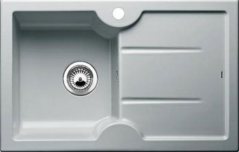 Кухонная мойка BLANCO IDESSA 45 S (чаша слева) КЕРАМИКА серый алюминий мойка idessa 45 s matte white left 514487 blanco