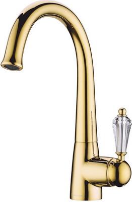 Кухонный смеситель OMOIKIRI Kanagawa-G латунь/золото/прозрачный кристалл (4994074) кухонный смеситель omoikiri kagoshima g латунь золото okag g 35
