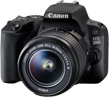 Цифровой фотоаппарат Canon EOS 200 D KIT EF 18-55 DC III черный фотоаппарат canon eos m10 black