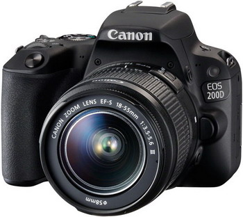 Цифровой фотоаппарат Canon EOS 200 D KIT EF 18-55 DC III черный canon eos 50d kit ef s 18 200