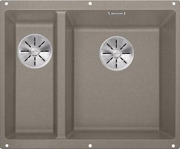 Кухонная мойка BLANCO SUBLINE 340/160-U SILGRANIT серый беж (чаша справа) с отв.арм. InFino 523565 blanco statura 160 u