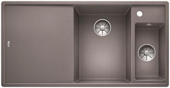 Кухонная мойка BLANCO AXIA III 6 S-F InFino Silgranit алюметаллик правая ( доска стекло) 523491 мойка axia ii 6 s f rock grey 518834 blanco