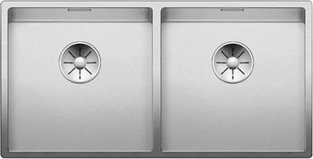 Кухонная мойка BLANCO CLARON 400/400-U нерж. сталь зеркальная полировка 521618 мойка claron 400 u 517213 blanco