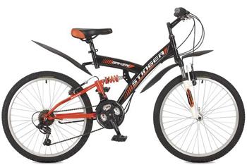 Велосипед Stinger 24 SFV.BANZAI.16 BK8 24'' Banzai 16'' черный велосипед stinger valencia 2017