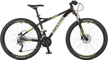 Велосипед Stinger 27.5'' Zeta HD 18'' черный 27 AHD.ZETAHD.18 BK7 велосипед stinger zeta d 27 5 2017