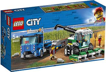 Конструктор Lego Транспортировщик для комбайнов 60223 City Great Vehicles конструктор lego снегоуборочная машина 60222 city great vehicles