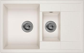 Кухонная мойка Weissgauff QUADRO 775 K Eco Granit белый  weissgauff ascot 575 eco granit белый