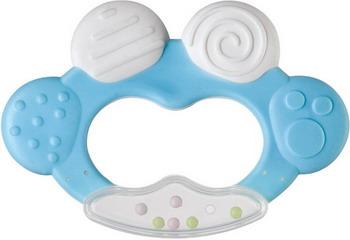 Зубопрорезыватель Happy Baby TEETHER RATTLE 20002 Blue детское автокресло happy baby skyler blue