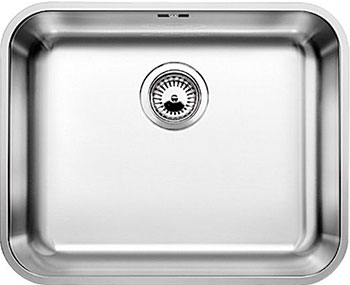 Кухонная мойка BLANCO SUPRA 500-U нерж.сталь полированная с корзинчатым-вентилем кухонная мойка blanco supra 180 u нерж сталь полированная с корзинчатым вентилем с коландером