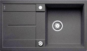 Кухонная мойка BLANCO METRA 5 S SILGRANIT темная скала с клапаном-автоматом blanco metra 6 silgranit темная скала с клапаном автоматом