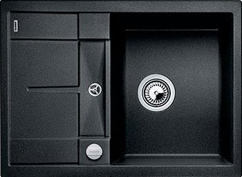 Кухонная мойка BLANCO METRA 45 S COMPACT SILGRANIT антрацит  с клапаном-автоматом мойка blanco classik 45s silgranit 521308 антрацит