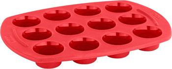 Силиконовая форма на 12 мини-кексов Tefal J 4092114 форма для выпекания металл tefal easy grip 28см j1629714