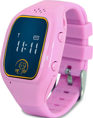 Детские часы с GPS поиском Ginzzu GZ-511 pink 0.66'' micro-SIM 16942 children s smart watch with gps camera pedometer sos emergency wristwatch sim card smartwatch for ios android support english e