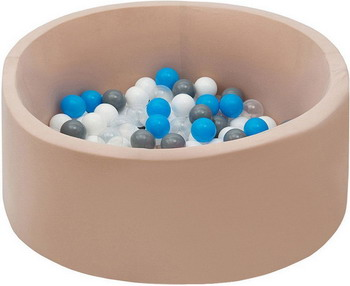 Бассейн сухой Hotnok Брызки на песке с 200 шарами в комплекте: бел прозр голуб сер sbh 061 apple wireless keyboard rus сер бел