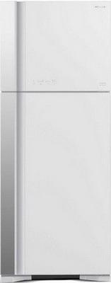 Двухкамерный холодильник Hitachi R-VG 542 PU3 GPW белое стекло все цены