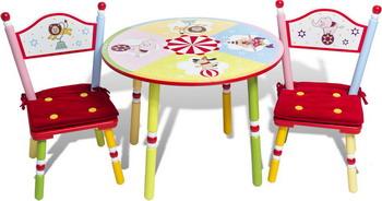 Набор из стола и двух стульев Major-kids Цирк разноцветный