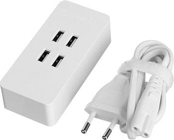 Зарядное устройство Orico DCV-4U-EU (белый) кабели orico кабель microusb orico adc 10