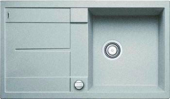 Кухонная мойка BLANCO METRA 5 S SILGRANIT жемчужный с клапаном-автоматом мойка кухонная blanco metra 6 s compact silgranit puradur жемчужный с клапаном автоматом 520576