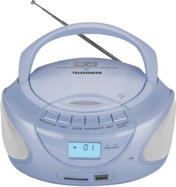 Магнитола Telefunken TF-CSRP 3490 B синий