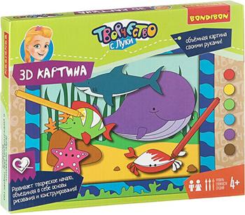 Набор для рисования Bondibon 3D картина (животные) ВВ1850 bondibon 3d картина животные