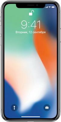 Мобильный телефон Apple iPhone X 64 ГБ серебристый (MQAD2RU/A)
