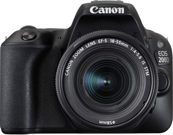 Цифровой фотоаппарат Canon EOS 200 D KIT EF 18-55 IS STM фотоаппарат canon eos m50 kit ef m 18 150mm f 3 5 6 3 is stm черный