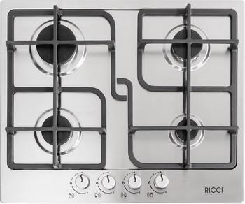 Встраиваемая газовая варочная панель Ricci RGN-ST 4001 IX встраиваемая комбинированная варочная панель ricci rkn 4t 1031 ix