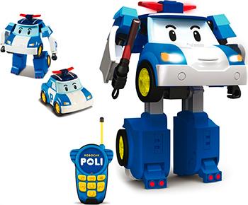 Робот-трансформер Robocar Poli Поли на радиоуправлении. Управляется в форме машины poli робот трансформер поли на радиоуправлении