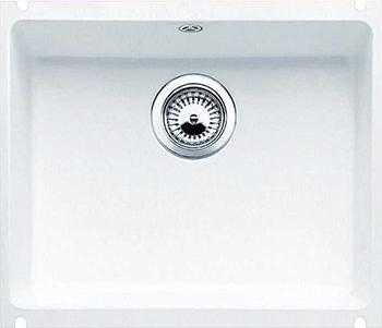 Кухонная мойка BLANCO 523733 SUBLINE 500-U керамика глянцевый белый PuraPlus с отв.арм. InFino кухонная мойка blanco 523738 subline 500 u керамика серый алюминий puraplus с отв арм infino