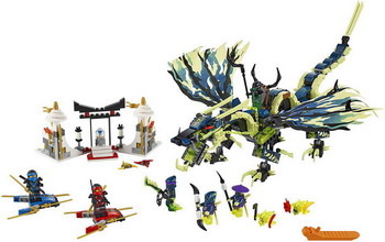 Конструктор Lego NINJAGO Атака дракона Моро 70736 конструктор lego ninjago 70633 кай мастер кружитцу