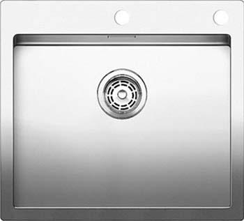 Кухонная мойка BLANCO CLARON 500-IF/А нерж. сталь зеркальная полировка 521633 blanco claron 500 u нерж сталь зеркальная