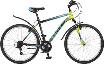 Велосипед Stinger 26'' Caiman 20'' зеленый 26 SHV.CAIMAN.20 GN7 велосипед stinger bmx graffiti цвет зеленый 20