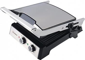 Электрогриль Endever Grillmaster 230 серебристый/черный электрический пресс гриль endever grillmaster 230 серебристый черный