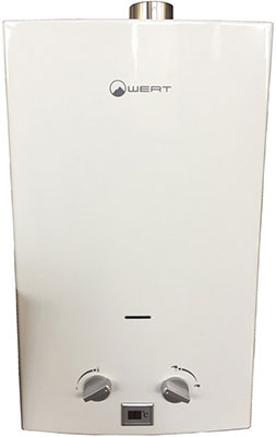 Газовый водонагреватель WERT 10 LT white