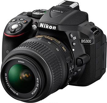 Цифровой фотоаппарат Nikon D 5300 kit DX 18-55 VR AF-P черный зеркальный цифровой фотоаппарат nikon d5300 18 105 vr kit black