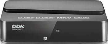 Цифровой телевизионный ресивер BBK SMP 001 HDT2 темно-серый цифровой телевизионный dvb t2 ресивер bbk smp023hdt2 темно серый