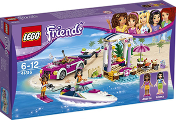 Конструктор Lego Friends Скоростной катер Андреа 41316 figures houses girl friends stephanie mia olivia andrea emma andrea blocks learning toy gift compatible with with friends gift