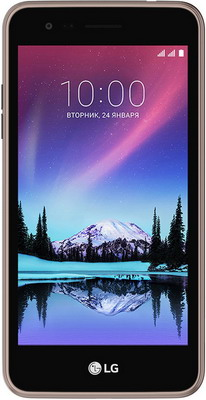 Мобильный телефон LG K7 2017 коричневый смартфон lg k7 2017 brown x230
