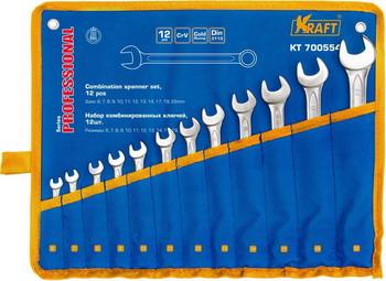 Набор комбинированных ключей Kraft KT 700554