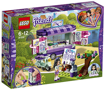 Конструктор Lego Передвижная творческая мастерская Эммы Friends 41332 figures houses girl friends stephanie mia olivia andrea emma andrea blocks learning toy gift compatible with with friends gift