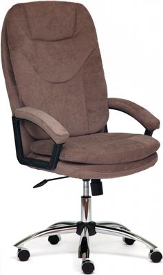 Кресло Tetchair SOFTY Lux ткань коричневый смоки браун smokie смоки augsburg