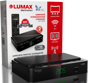 Цифровой телевизионный ресивер Lumax DV 2105 HD цифровой телевизионный ресивер lumax dv 3209 hd