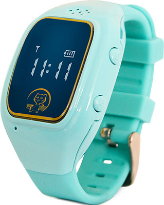 Детские часы с GPS поиском Ginzzu GZ-511 blue 0.66'' micro-SIM 16943 children s smart watch with gps camera pedometer sos emergency wristwatch sim card smartwatch for ios android support english e