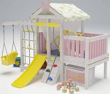 Игровой комплекс-кровать для дома Hotnok 10 в 1 ''ВД6'' (белый) СД6 текстиль для дома
