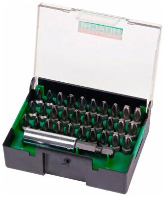 Набор бит Hitachi 31 предмет 752340 (752248) набор бит skrab 43550