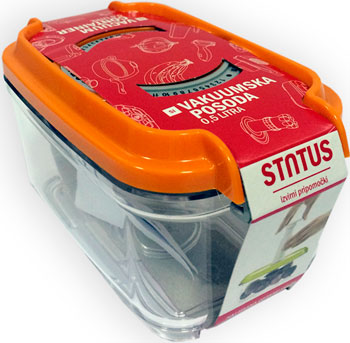 Контейнер для вакуумирования Status VAC-REC-05 Orange полотенцесушитель с верхней полкой ника quadro 120х50 водяной л 90 вп 120 50