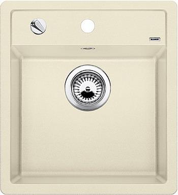 Кухонная мойка BLANCO DALAGO 45-F SILGRANIT жасмин с клапаном-автоматом  кухонная мойка blanco dalago 45 grey beige