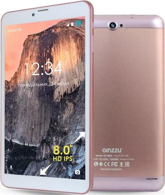 Планшет Ginzzu GT-8005 розовое золото цена и фото