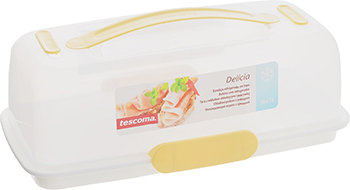 Охлаждающий поднос с крышкой Tescoma DELICIA d 36 x 18см 630844 противень для выпечки tescoma delicia 46 x 30см 623014
